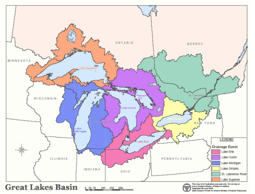 Great Lakes Drainage Basins